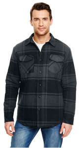 Quilted Flannel Jacket - Unisex - Quilted Flannel Jacket Front
